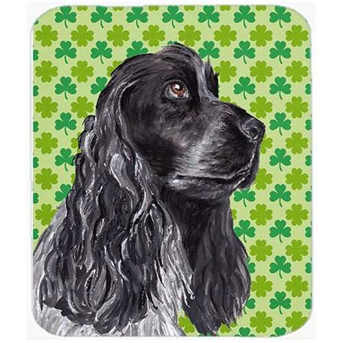 Carolines Treasures SC9568MP 7.75 x 9.25 in. Cocker Spaniel St Patricks Irish Mouse Pad Hot Pad or Trivet