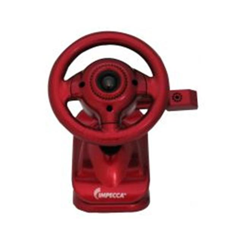 Impecca WC100R Steering Wheel Webcam with Built-in Mic Red