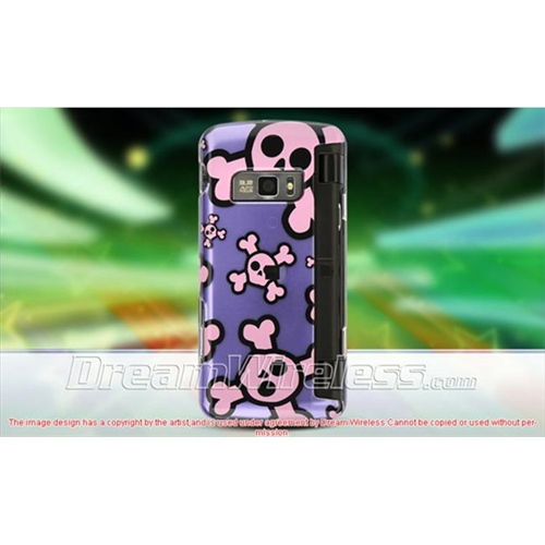 DreamWireless CALG11000PPPKSK LG Voyager Ii Env Touch Vx-11000 Crystal Case Purple With Pink Skull