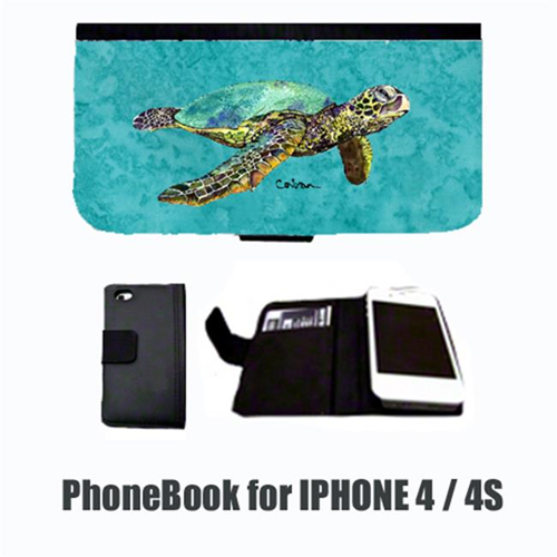 Carolines Treasures 8659-NBIP4 Turtle Cell Phonebook Cell Phone case Cover for IPHONE 4 or 4S