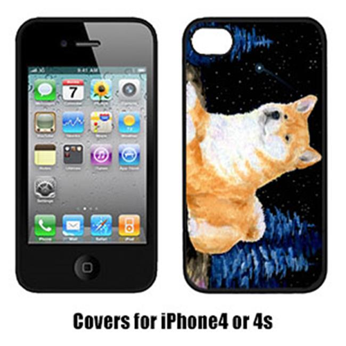Carolines Treasures SS8445IP4 Starry Night Shiba Inu Cell Phone Cover Iphone 4