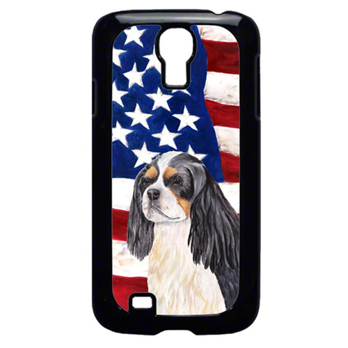 Carolines Treasures SC9114GALAXYS4 USA American Flag with Cavalier Spaniel Cell Phone Cover GALAXY S4