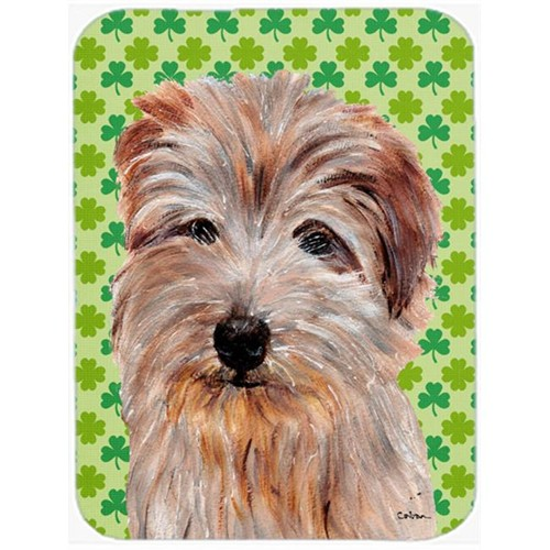Carolines Treasures SC9736MP Norfolk Terrier Lucky Shamrock St. Patricks Day Mouse Pad Hot Pad Or Trivet 7.75 x 9.25 In.