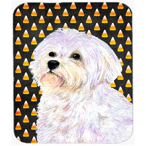Carolines Treasures SS4274MP Maltese Candy Corn Halloween Portrait Mouse Pad Hot Pad Or Trivet