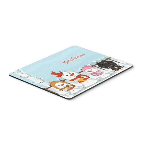Carolines Treasures BB2459MP Merry Christmas Carolers Wire Haired Dachshund Dapple Mouse Pad Hot Pad or Trivet