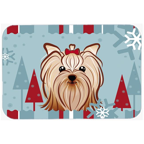 Carolines Treasures BB1700MP Winter Holiday Yorkie Yorkishire Terrier Mouse Pad Hot Pad & Trivet