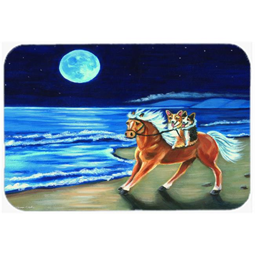 Carolines Treasures 7318MP Corgi Beach Ride On Horse Mouse Pad Hot Pad & Trivet
