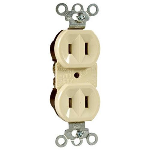 Pass & Seymour 4025ICC20 Standard Duplex Outlet 15A 125V Ivory