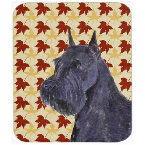 Carolines Treasures SS4333MP Schnauzer Giant Fall Leaves Portrait Mouse Pad Hot Pad Or Trivet