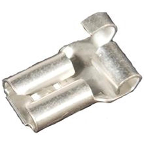 Morris Products 12418 Non-Insulated Flag Female Disconnects - 22-18 Wire.03 2 X.250 Tab Pack Of 100