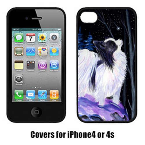Carolines Treasures SS8383IP4 Starry Night Papillon Cell Phone cover IPhone 4