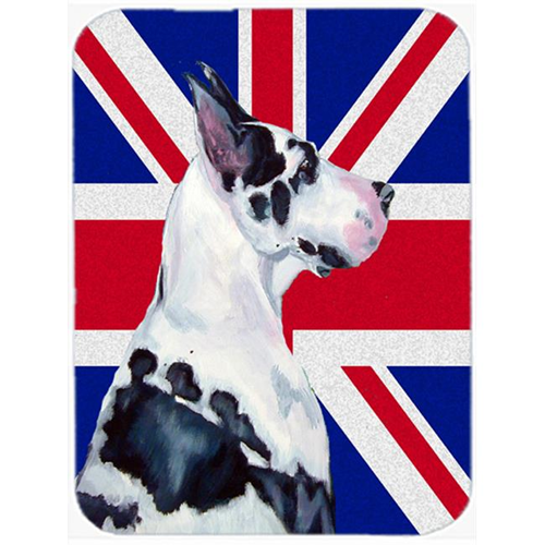 Carolines Treasures LH9478MP 7.75 x 9.25 In. Great Dane With English Union Jack British Flag Mouse Pad Hot Pad Or Trivet