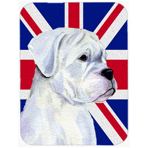 Carolines Treasures SS4951MP 7.75 x 9.25 In. Boxer With English Union Jack British Flag Mouse Pad Hot Pad Or Trivet