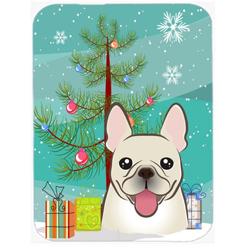 Carolines Treasures BB1610MP Christmas Tree And French Bulldog Mouse Pad Hot Pad & Trivet