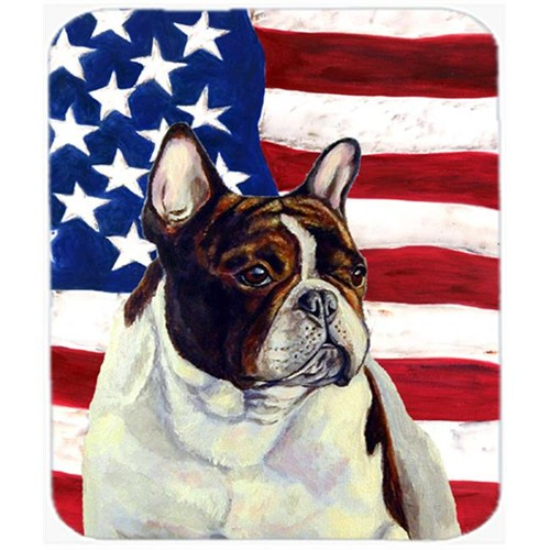 Carolines Treasures LH9006MP 9.5 x 8 in. USA American Flag with French Bulldog Mouse Pad Hot Pad or Trivet