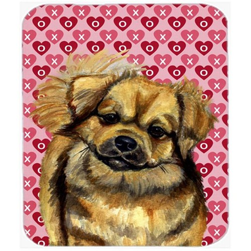 Carolines Treasures LH9169MP Tibetan Spaniel Hearts Love And Valentines Day Mouse Pad Hot Pad or Trivet