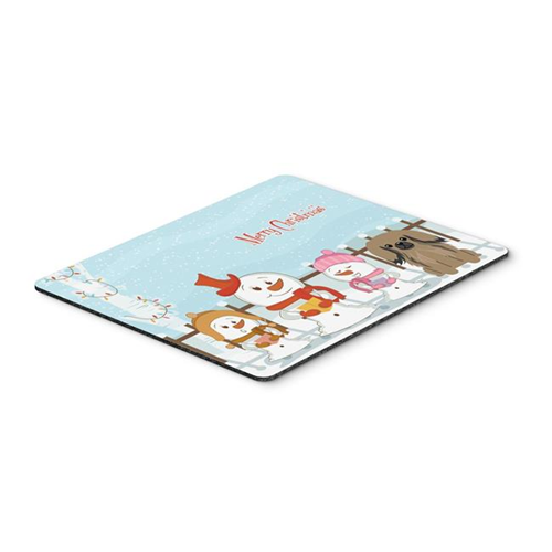 Carolines Treasures BB2433MP Merry Christmas Carolers Pekingnese Tan Mouse Pad Hot Pad or Trivet
