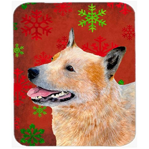 Carolines Treasures LH9317MP Australian Cattle Dog Snowflakes Christmas Mouse Pad Hot Pad Or Trivet - 7.75 x 9.25 In.