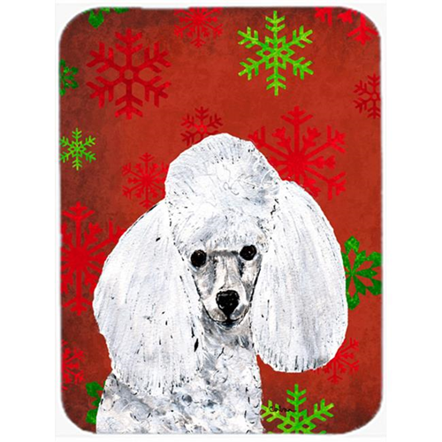 Carolines Treasures SC9749MP White Toy Poodle Red Snowflakes Holiday Mouse Pad Hot Pad Or Trivet 7.75 x 9.25 In.