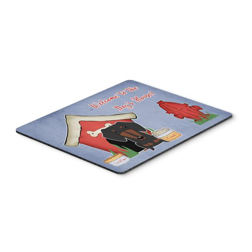Carolines Treasures BB2886MP Dog House Collection Dachshund Black & Tan Mouse Pad Hot Pad or Trivet