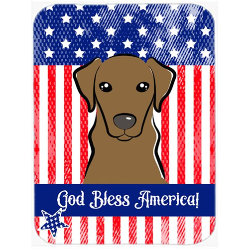 Carolines Treasures BB2163MP God Bless American Flag with Wirehaired Dachshund Mouse Pad Hot Pad or Trivet