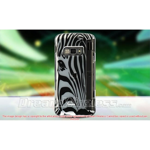 DreamWireless CALG11000SLZF LG Voyager Ii Env Touch Vx-11000 Crystal Case Silver Zebra Face