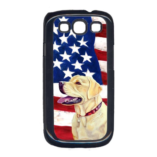 Carolines Treasures LH9008GALAXYS3 USA American Flag with Labrador Cell Phone Cover GALAXY S111