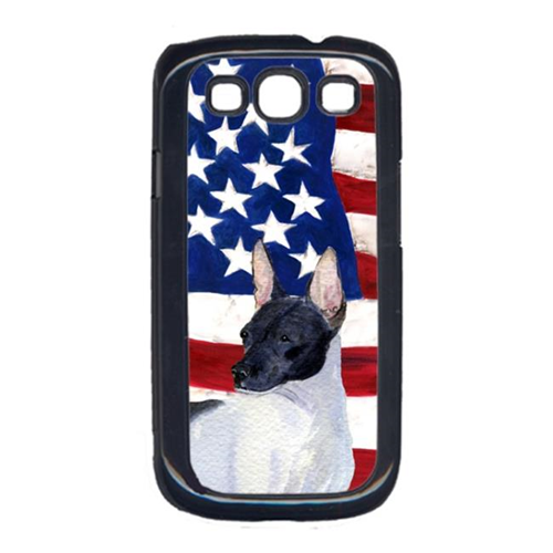 Carolines Treasures SS4054GALAXYS3 USA American Flag with Rat Terrier Cell Phone Cover GALAXY S111