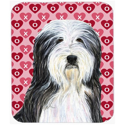 Carolines Treasures SS4497MP Bearded Collie Hearts Love And Valentines Day Mouse Pad Hot Pad Or Trivet
