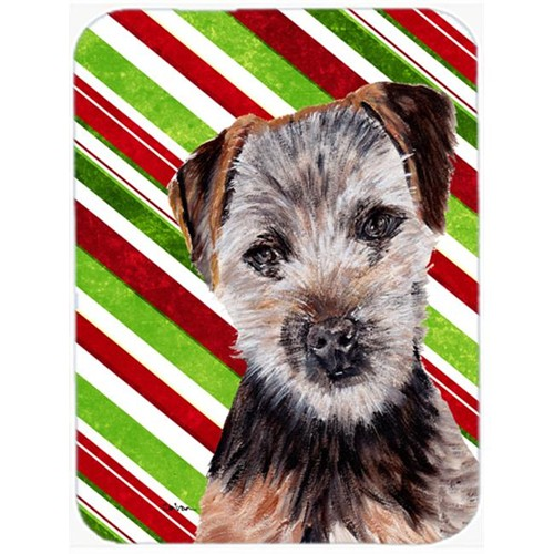 Carolines Treasures SC9807MP Norfolk Terrier Puppy Candy Cane Christmas Mouse Pad Hot Pad Or Trivet 7.75 x 9.25 In.