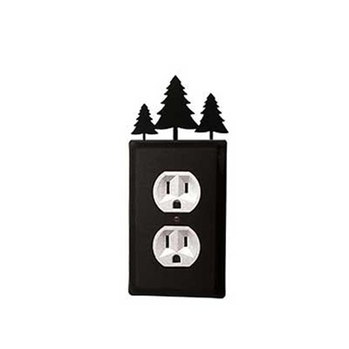 Village Wrought Iron EO-20 Pine Trees Outlet Cover