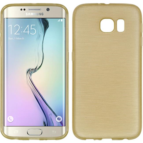 DreamWireless CSSAMS6EDGE-TS-CHGO Samsung Galaxy S6 Edge Crystal Skin Case Transparent Champagne Gold
