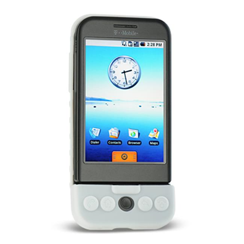 DreamWireless SCHTCG1WT-PR HTC Dream & G1 Premium Skin Case - White