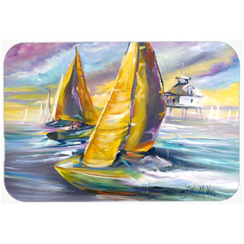 Carolines Treasures JMK1061MP Sailboat With Middle Bay Lighthouse Mouse Pad Hot Pad & Trivet