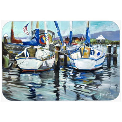 Carolines Treasures JMK1087MP Tourquoise Bay Sailboat Mouse Pad Hot Pad & Trivet