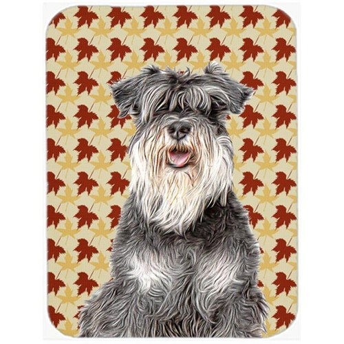 Carolines Treasures KJ1206MP Fall Leaves Schnauzer Mouse Pad Hot Pad or Trivet