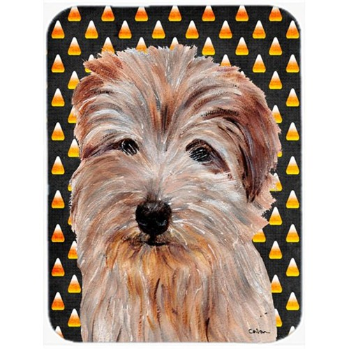 Carolines Treasures SC9664MP Norfolk Terrier Candy Corn Halloween Mouse Pad Hot Pad Or Trivet 7.75 x 9.25 In.