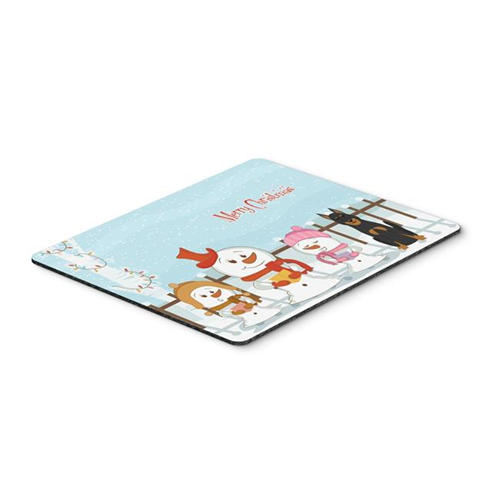 Carolines Treasures BB2411MP Merry Christmas Carolers Beauce Shepherd Dog Mouse Pad Hot Pad or Trivet