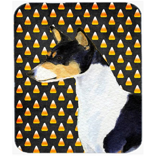 Carolines Treasures SS4307MP Basenji Candy Corn Halloween Portrait Mouse Pad Hot Pad Or Trivet