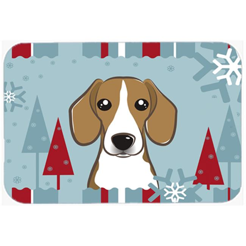 Carolines Treasures BB1735MP Winter Holiday Beagle Mouse Pad Hot Pad & Trivet