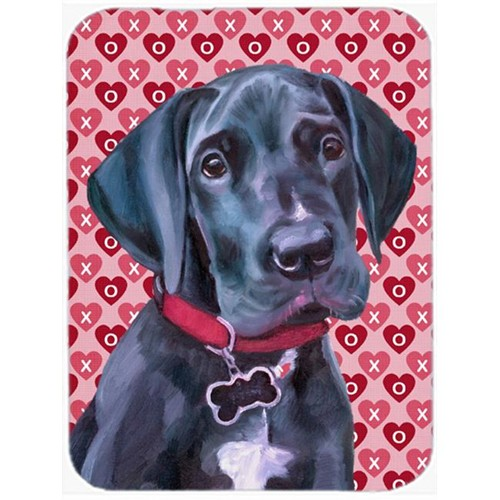 Carolines Treasures LH9565MP Black Great Dane Puppy Hearts Love And Valentines Day Mouse Pad Hot Pad & Trivet