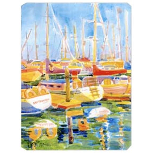 Carolines Treasures 6019MP 9.5 x 8 in. Boats at Harbour Pier Mouse Pad Hot Pad Or Trivet