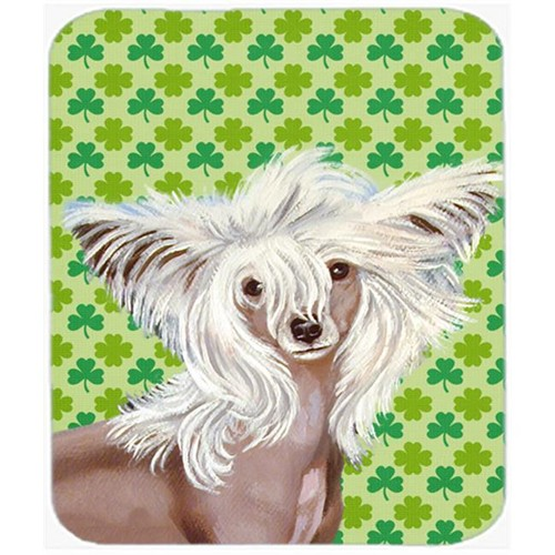 Carolines Treasures LH9212MP Chinese Crested St. Patricks Day Shamrock Mouse Pad Hot Pad or Trivet