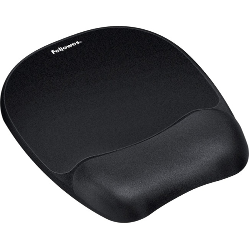 Fellowes 9176501 Mouse Pad with Wrist Rest Nonskid Back 8 x 9-1/4 Black