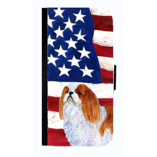 Carolines Treasures SS4034NBGALAXYS4 USA American Flag With English Toy Spaiel USA Cell Phone Case For Galaxy 4S