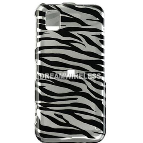 DreamWireless CASAMR810SLZ Samsung Finesse R810 Crystal Case Silver & Black Zebra - Metro PCS