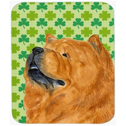 Carolines Treasures SS4433MP Chow Chow St. Patricks Day Shamrock Portrait Mouse Pad Hot Pad Or Trivet