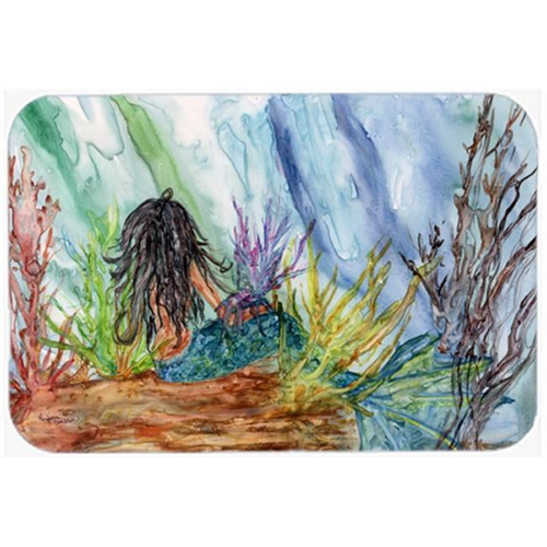 Carolines Treasures 8974MP Black Haired Mermaid Water Fantasy Mouse Pad Hot Pad or Trivet