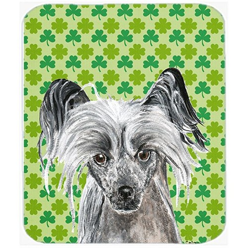 Carolines Treasures SC9578MP 7.75 x 9.25 in. Chinese Crested St Patricks Irish Mouse Pad Hot Pad or Trivet