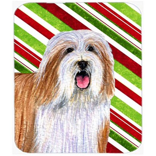 Carolines Treasures LH9240MP Bearded Collie Candy Cane Holiday Christmas Mouse Pad Hot Pad Or Trivet
